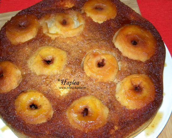 tort cu mere intregi caramelizate poza 12