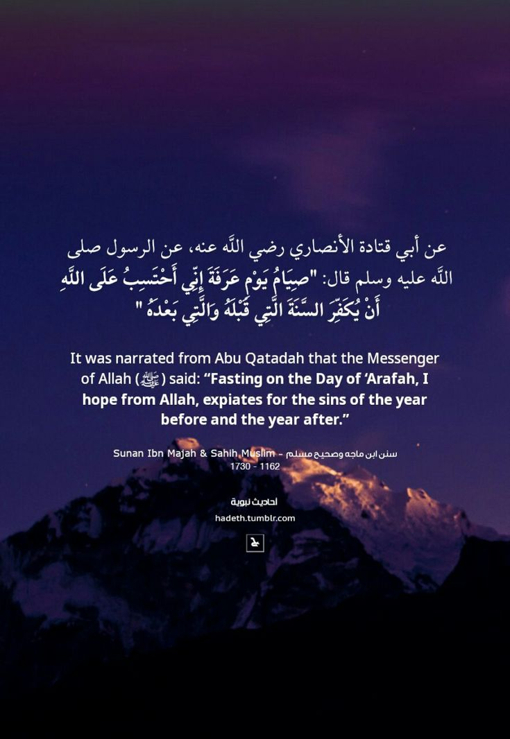 It Was Narrated From Abu Qatadah That The Messenger Of Allah ﷺ Said Fasting On The Day Of Arafah I Hope From Allah Expi English Reference Arafah Sayings