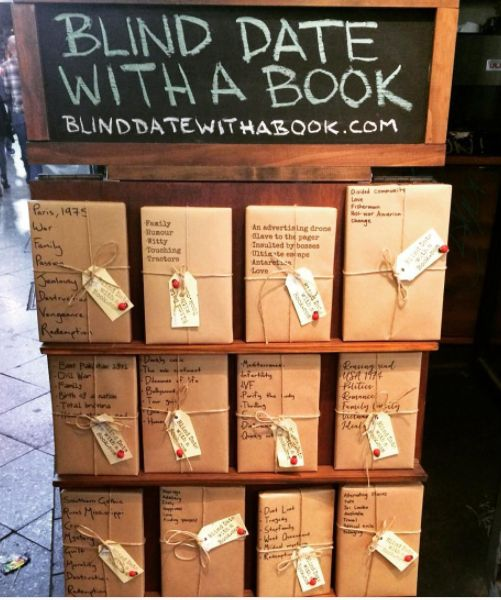 "This bookshop's ""blind date with a book"" campaign that encourages you to try something new (and not judge a book by its cover). 