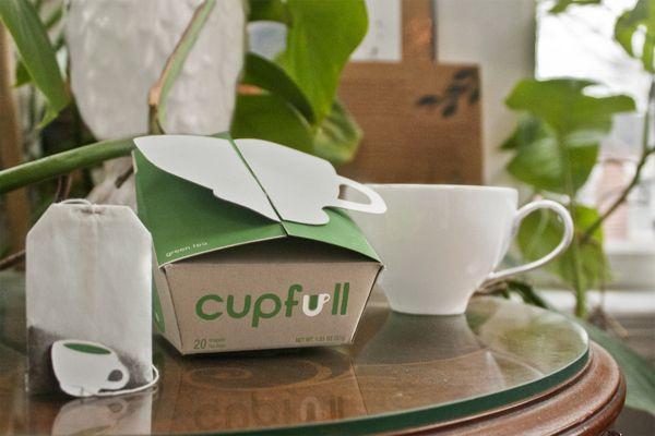 Cupfull Tea Packaging Concept by Jimmy Zubik, via Behance