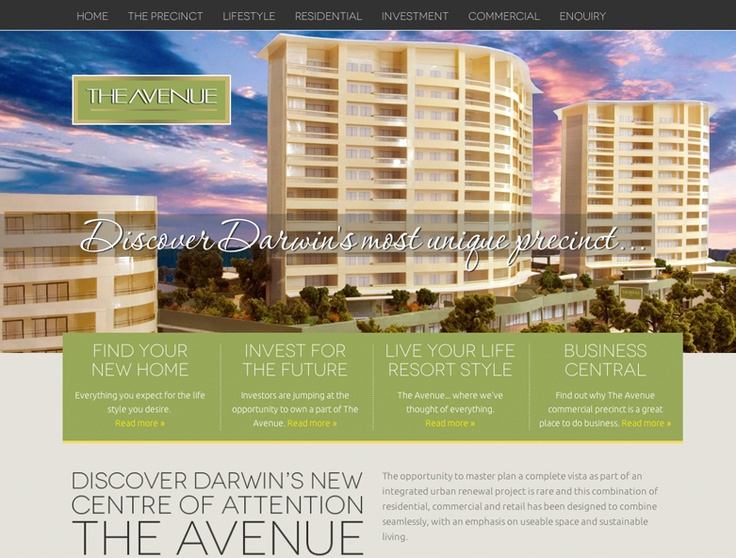 The Avenue Website Design by Captovate, Darwin