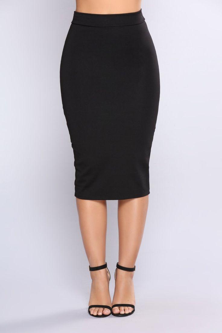 No Apologies Midi Skirt - Black