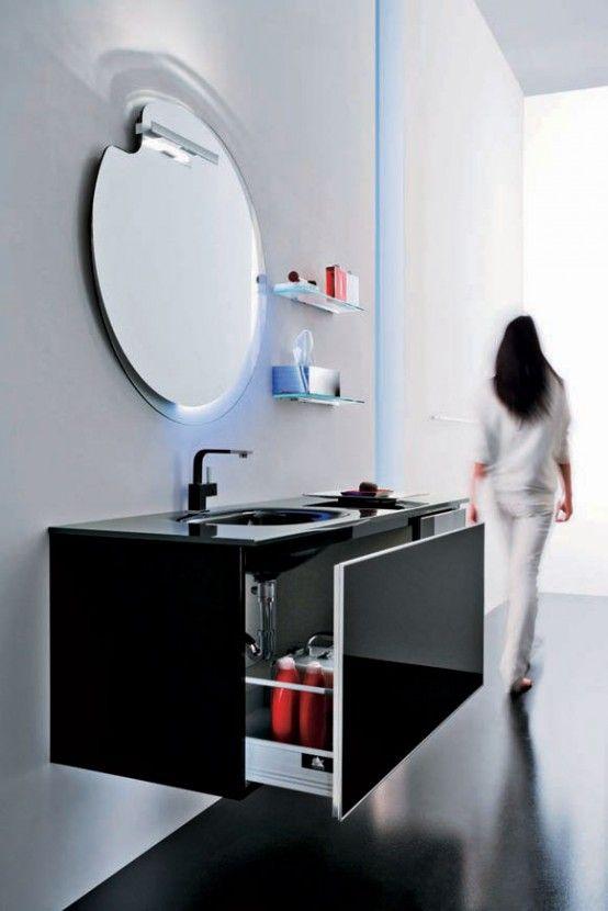 Modern Black Bathroom Furniture - Onyx by Stemik Living