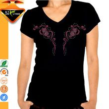 OEM Wholesale V neck Women Thin Cotton T-shirt  best seller follow this link http://shopingayo.space