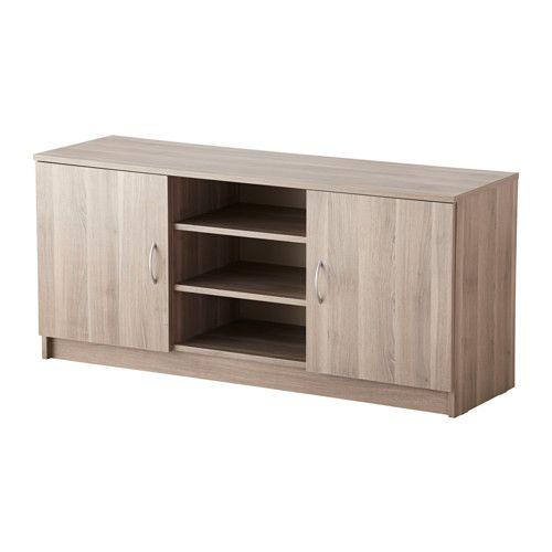 ТОДАЛЕН Тумба под ТВ, с дверцами - серо-коричневый - IKEA