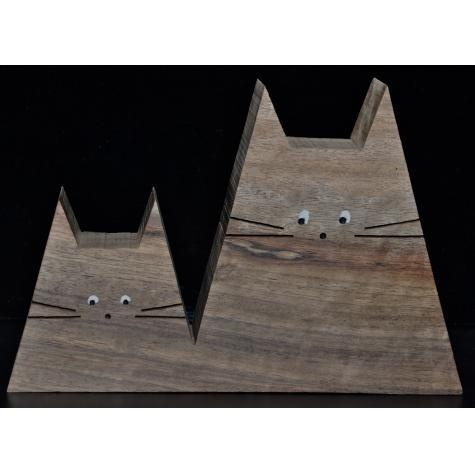 Hardhouten katten :-)