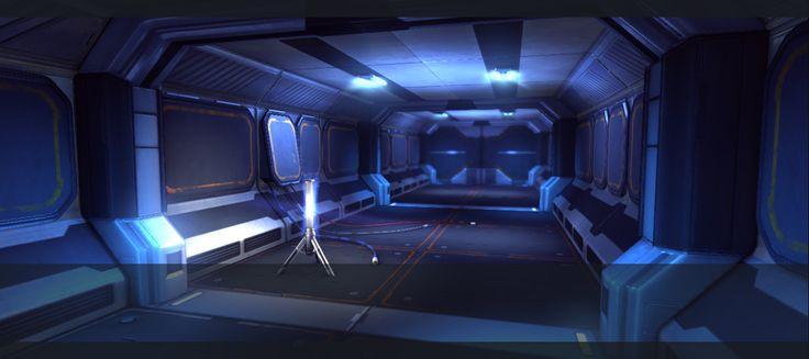 sci fi corridor by pmargacz on DeviantArt