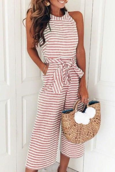 70afb026c60c Round Neck Striped Jumpsuits (5 Colors) in 2019