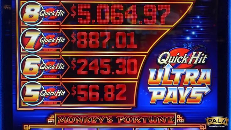 Check out this Bonus Round on Quick Hit Monkey's Fortune