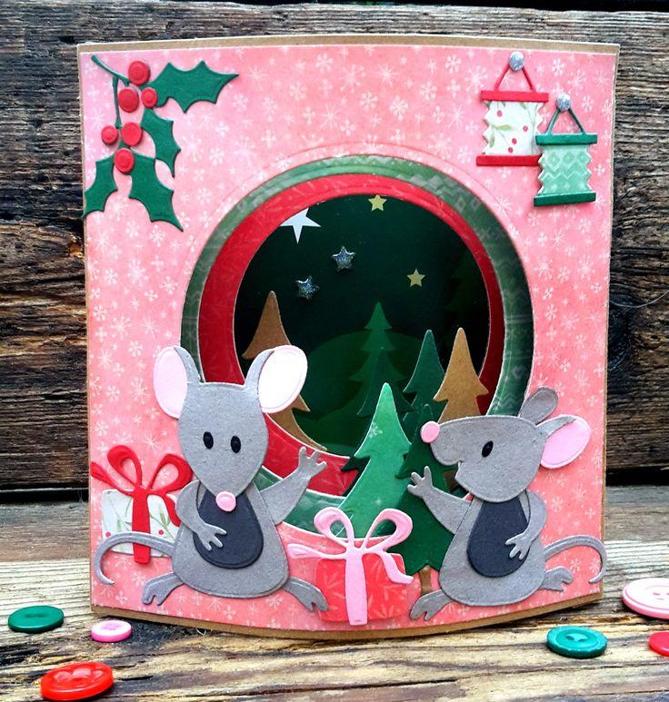 Het is weer donderdag en het duurt nog maar 95 dagen tot Kerst!! Dus ook op deze donderdag kerstkaartjes op mijn blog. Vandaag mogen Nancy...