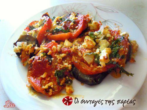Eggplants with cheese in the oven #cooklikegreeks #eggplants #fetacheese