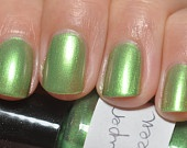 "Fifth Element inspired ""Super Green"" Duochrome Topcoat by lilacquer: Inspired Super, Green Reduced, Nail Polish, Lilacquer Super, Indie, Nail Biting, Super Green, Nail Art"