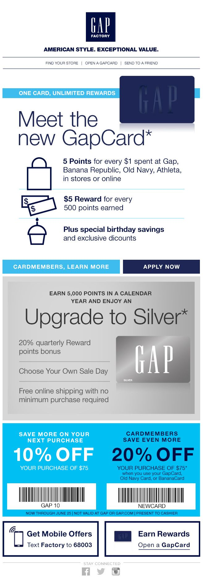 Credit card acquisition // key is to build value   Email Design ...