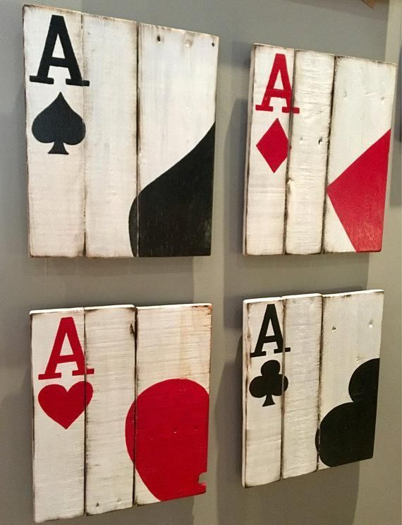 Game Cards Ace Cards Art Poker Room Decor Man Cave Decor #roomdecor