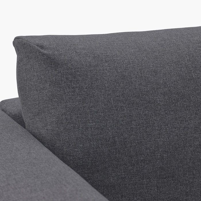 Vimle Canape D Angle 4 Places Sans Accoudoir Gunnared Gris Moyen Ikea In 2020 3er Sofa Bettsofa Sofa U Form
