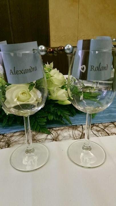 Tischkarten im Glas