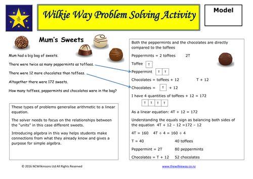 Set 5  Mastery Problem Solving Activities: Algebra