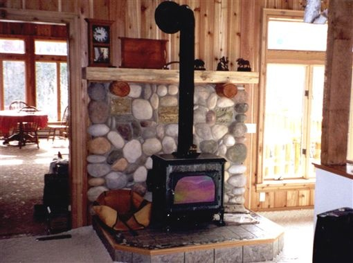 Stone hearth with mantle · Wood Stove ... - 22 Best Woodstove Mantle Images On Pinterest
