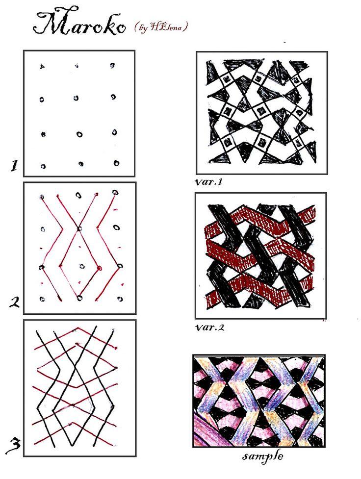 (2012-05) Maroko: Patterns Building, Zentangle Patternsstreak, Zentangle Patterns Ideas, Zen Tangled, Tangled Patterns, Patterns 2012, Maroko Zentangle, Zentangle Patterns Streaks, Zentangle Tutorials