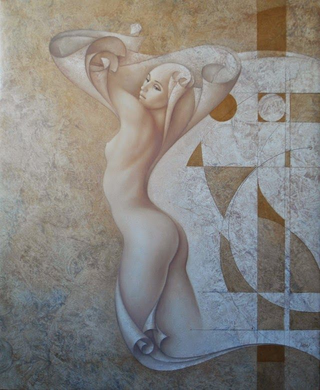 Картины современных художников: Загадочные силуэты на картинах Gerard Daran