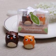 """Owl Always Love You"" Ceramic Salt & Pepper Shakers"