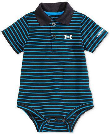 Under Armour Baby Boys' Short-Sleeve Polo-Style Bodysuit | macys.com