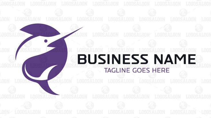 Logo for sale: Unique marlin fish logo using positive negative drawing technique. Suitable for company or business related to marine, sea and coast. club, coastal, competition, fishing team, nautical