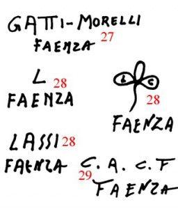 марки и клейма итальянская керамика EMILIA ROMAGNA E SAN MARINO 4