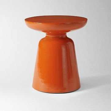 side table as pop of color: Coffee Tables, Side Tables, Pop Of Colors, Consoles Tables, Coff Tables, Martinis Side, Accent Tables, Living Rooms Tables, West Elm