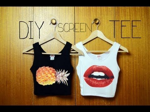 DIY Graphic Tee (Super Simple) - YouTube