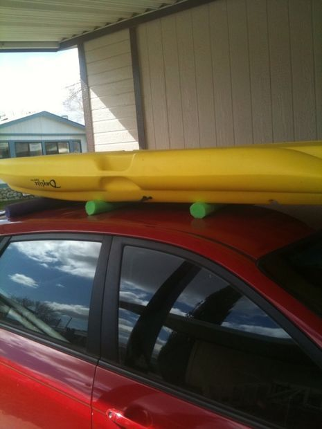 Picture of Lift your kayak onto the roof.                                                                                                                                                     More