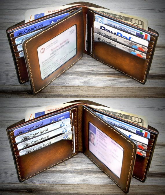 05 Leather Wallet for men. Handmade in Italy. ID by Odorizzi
