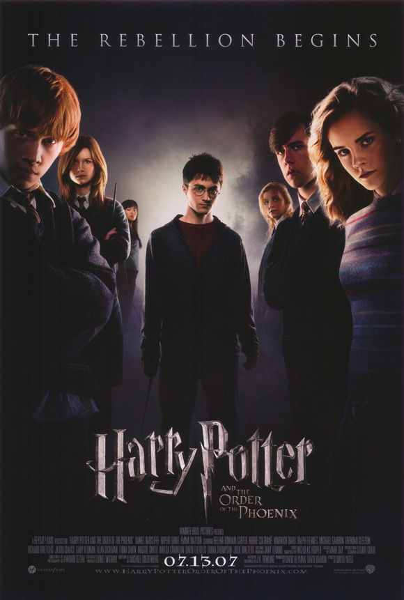 Harry Potter and the Order of the Phoenix, saw all of the Harry Potter movies with my daughter as she grew up...great memories:)