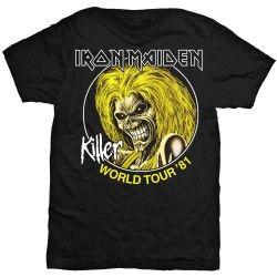Tricou Iron Maiden: Killer World Tour '81