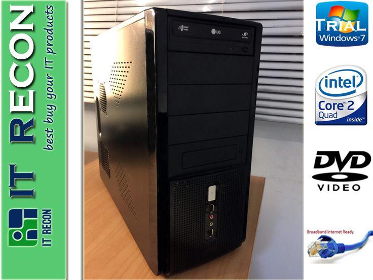 Clone PC with Intel Core 2 Quad 500GB 2GB Win7 Pro Trail