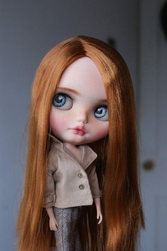 Maple zakázku OOAK blythe doll jedinečné umělecké panenky podle AlmondDoll