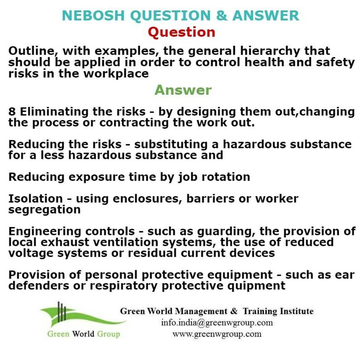23 Best Nebosh Exam Questions Images On Pinterest