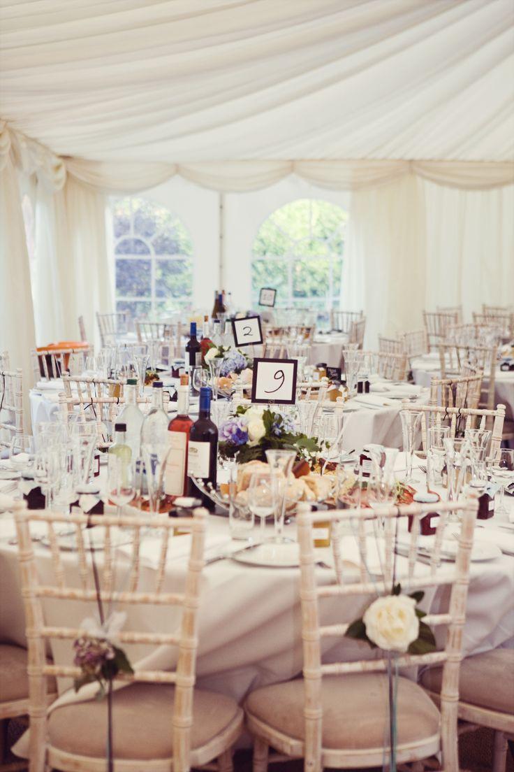 Cream backyard marquee wedding