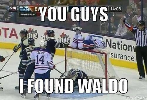 You guys - I found Waldo #hockey #NHL