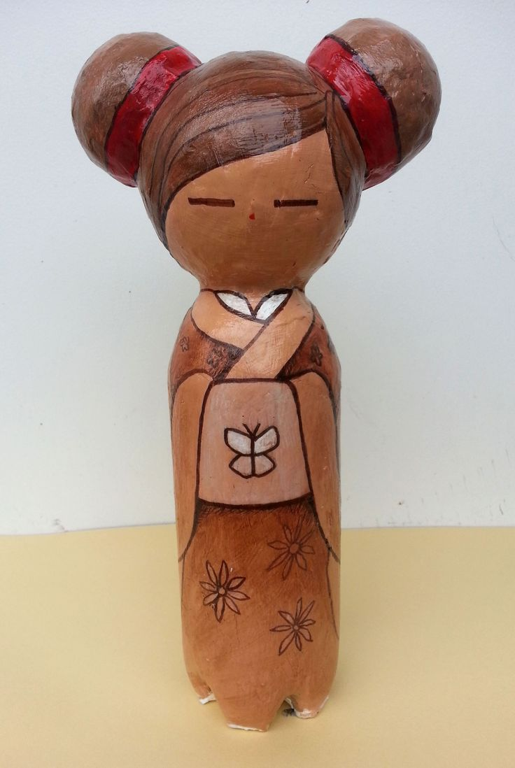 © 2013 Carlos Aleman  Finished another paper mache Kokeshi doll!