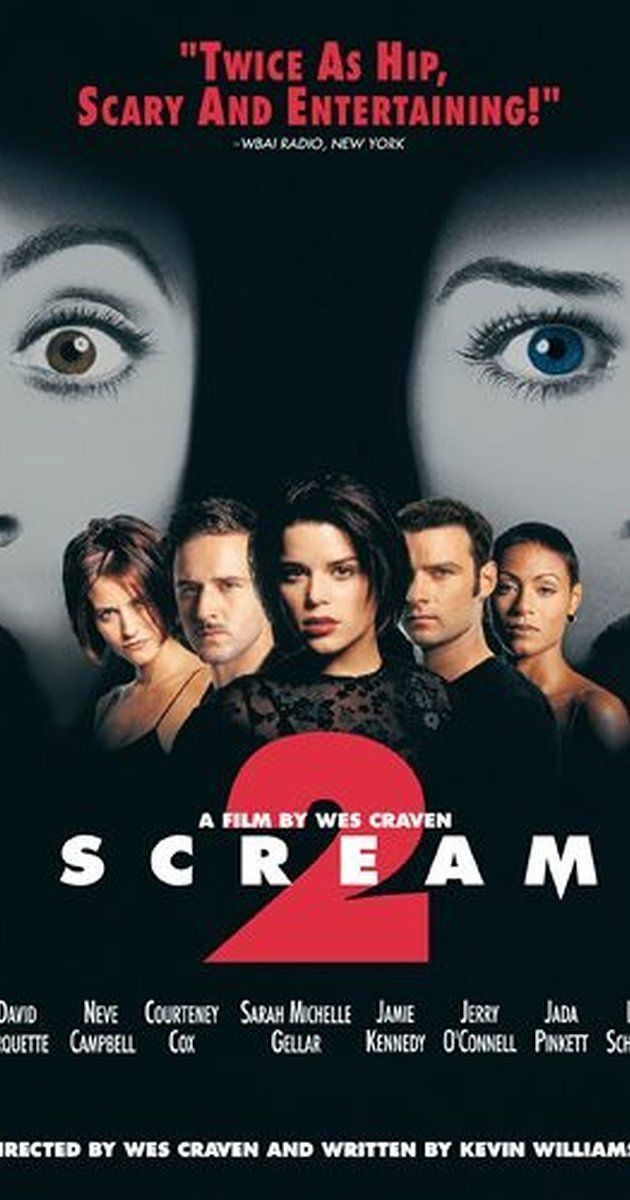 Directed by Wes Craven.  With Neve Campbell, Courteney Cox, David Arquette, Jada Pinkett Smith. Two years after the first series of murders, a new psychopath dons the Ghostface costume and a new string of killings begins.