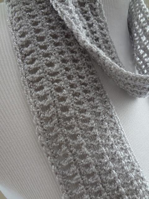 Fiber Flux...Adventures in Stitching: Free Crochet Pattern...Silver Dollar Skinny Scarf!