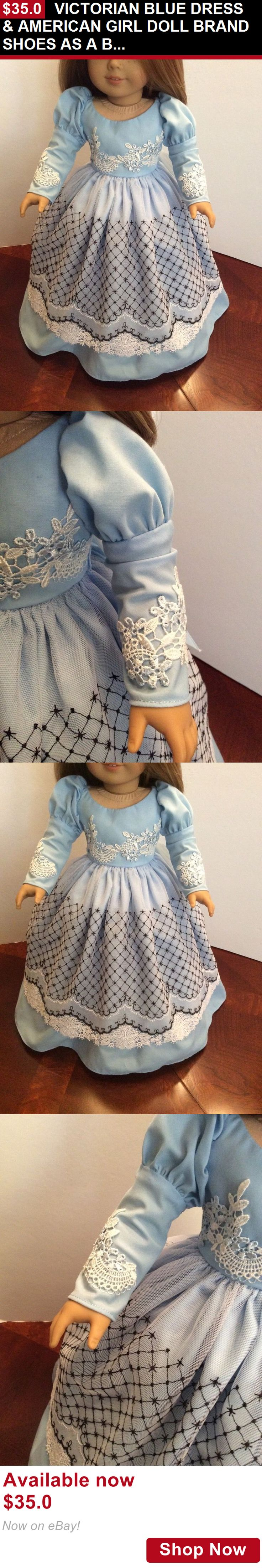 Telescope Cases And Bags: Victorian Blue Dress And American Girl Doll Brand Shoes As A Bonus 18 Dolls BUY IT NOW ONLY: $35.0