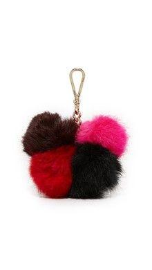 Jocelyn 6 Color Fur & Leather Bag Charm | SHOPBOP