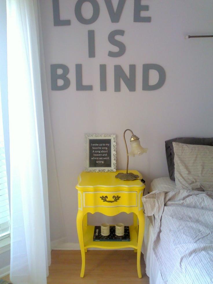 Yellow nightstand - good choice!