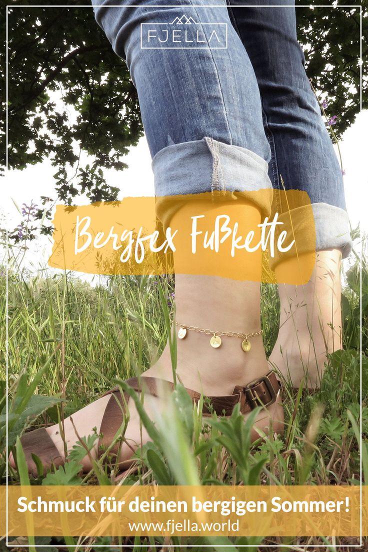 Bergfex Trio Fußkette | Handgestempelt