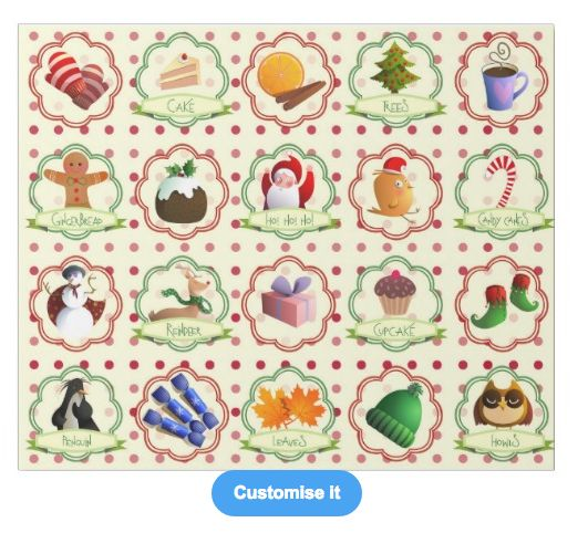 """A mixed christmas"" custom christmas wrapping paper pattern on sale in my zazzle store! www.zazzle.com/martinaterzi check it out!"