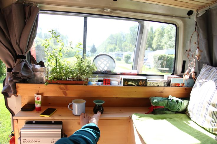 wood, herbs, vanning, vanlife, van, vw t4, camping, converting, conversion, roadtrip, europe, were is your office, #whatchaBus #welovehank