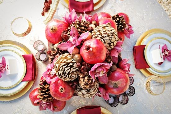 Pomegranate Wedding Ideas : featured in Bridal Guide Magazine - Brenda's Wedding Blog - stylish real weddings - inspiration boards - unique accents for weddings