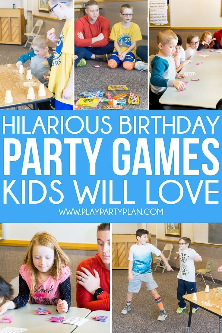 Hilarious Birthday Party Games With Images Kids Party Games